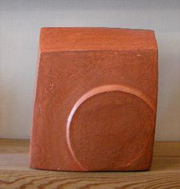オレンジ色の彫刻
